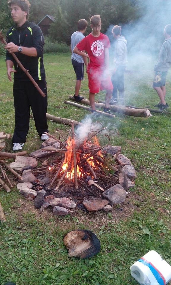 Šuple má moc rád ohně...