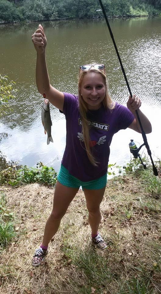 Marušky velký koníček a záliba - rybaření